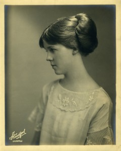 Lou Tate as a young lady
