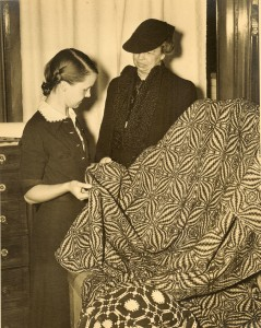 Lou Tate with Eleanor Roosevelt
